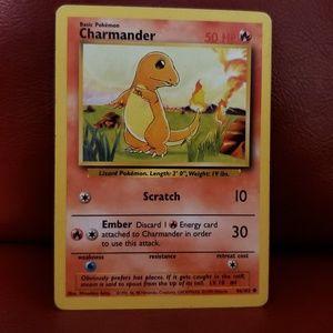 Pokemon Card 1995  46/102 Charmander Card